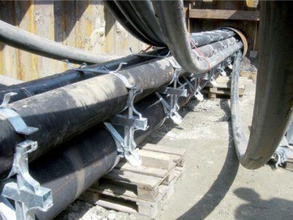 Stahlrollenringe montiert