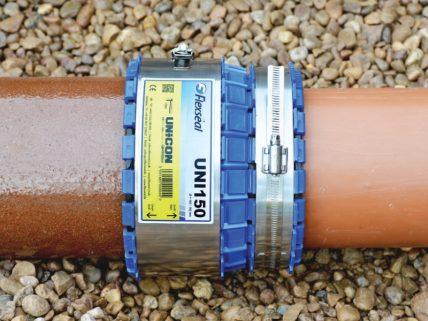 Unicon: Steinzeug/glattes PE-Rohr