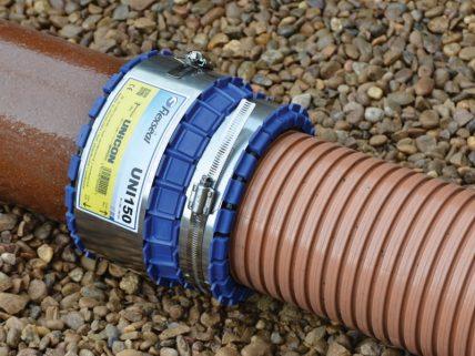 Unicon: Steinzeug/geripptes PE-Rohr